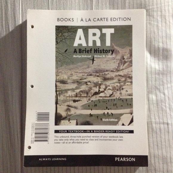 art a brief history books a la carte 6th edition